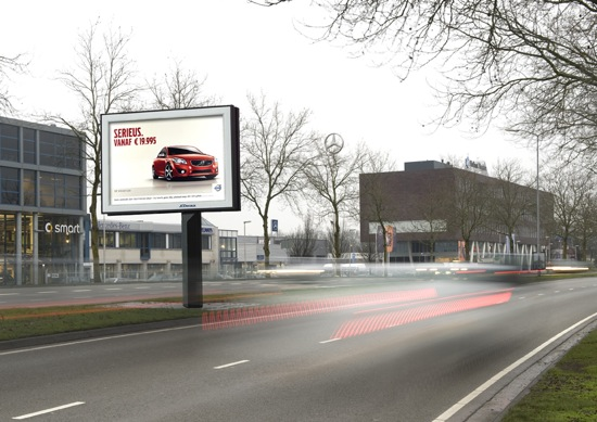 Duurzaam beton in billboards van JCDecaux
