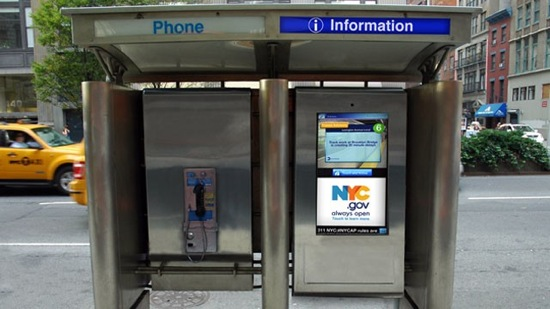 Smart Screens vervangen telefooncellen in New York